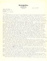 Letter to Amb. Bùi Diễm from Neil Sheehan